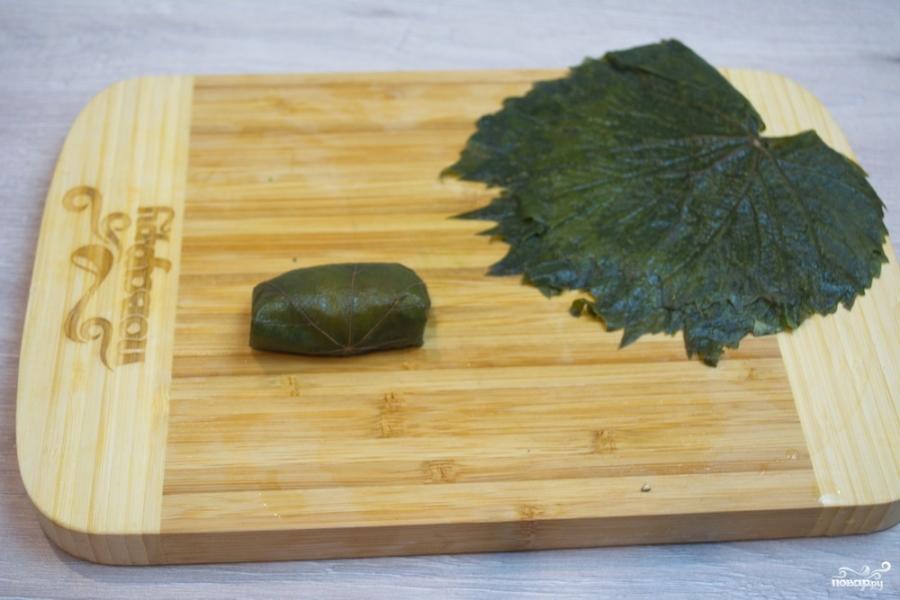 Долма в виноградных листьях - фото шаг 4