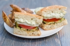 Бутерброды с кабачком и помидором