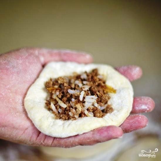 Пирожки с мясом и рисом - фото шаг 15