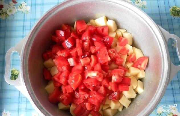 Овощное рагу со свининой и кабачками - фото шаг 5