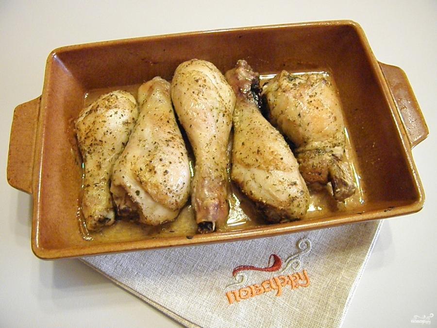 Куриная голень под соусом - фото шаг 6