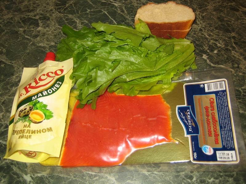 Рецепт Канапе из красной рыбы