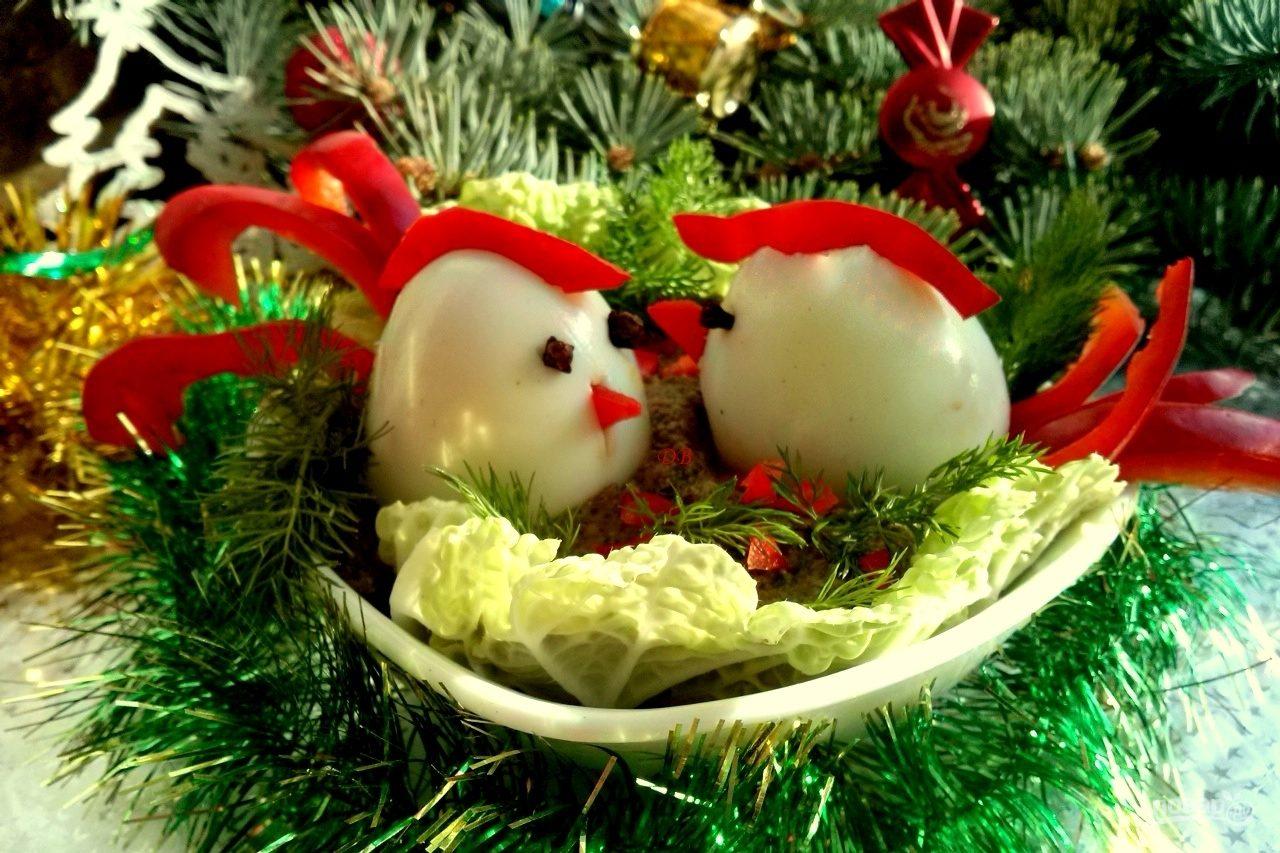 """Закуска """"Петушки"""" из яиц"""