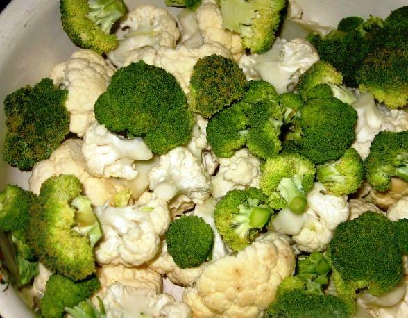 Рецепт Цветная капуста с овощами в духовке
