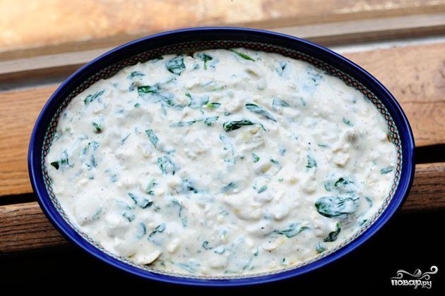 Сырный соус с артишоками и шпинатом - фото шаг 7