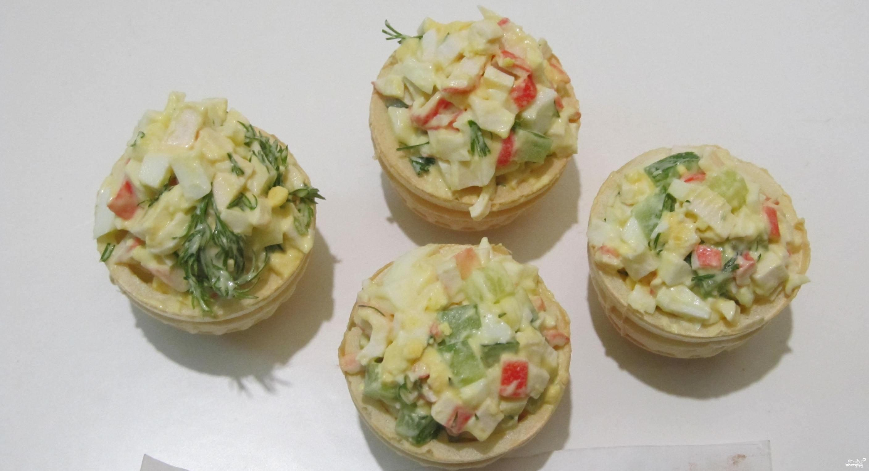 Тарталетки с крабом рецепт