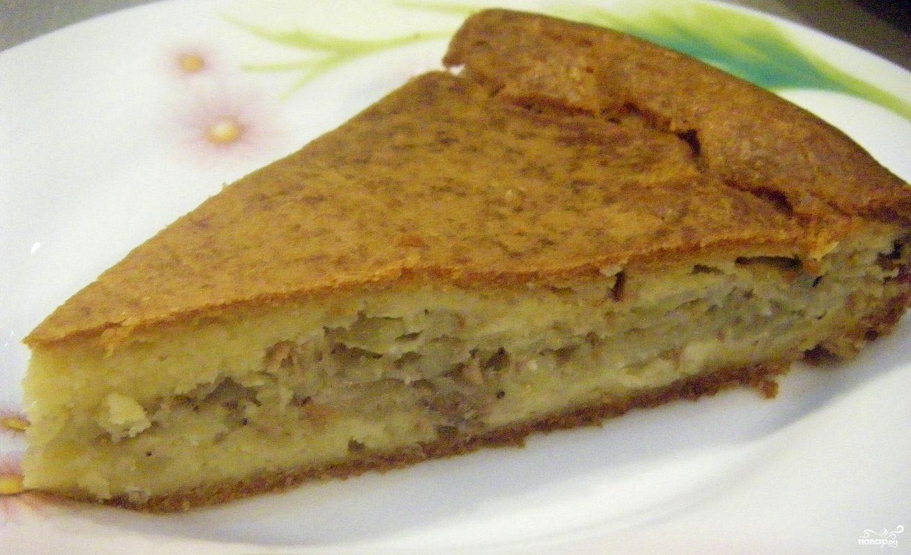 Пирог с консервой и картошкой