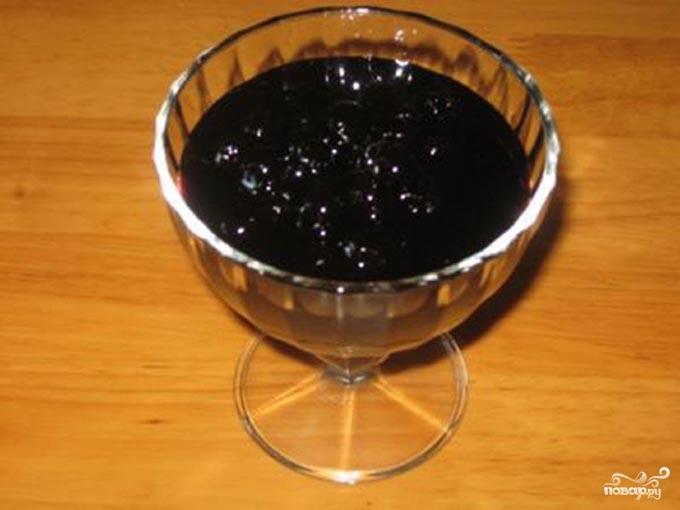 Варенье из черники густое