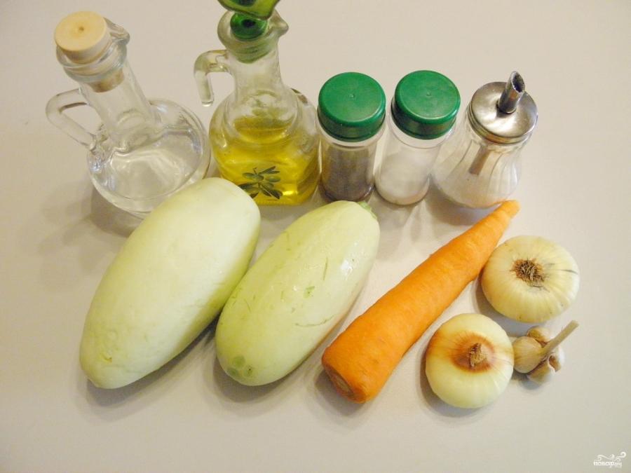Кабачки с морковью и луком на зиму - фото шаг 1