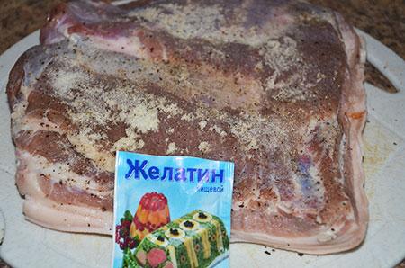 Рецепт Рулет из свиной брюшины