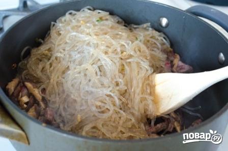 Корейская лапша с мясом - фото шаг 6