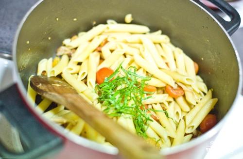 Паста с грибами и помидорами - фото шаг 8