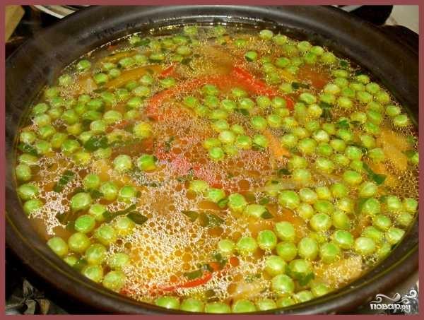 Суп с зеленым горошком - фото шаг 5