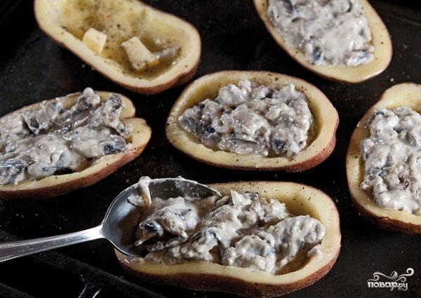 Жюльен в картофеле - фото шаг 6