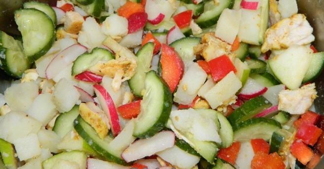 Салат без майонеза рецепт очень