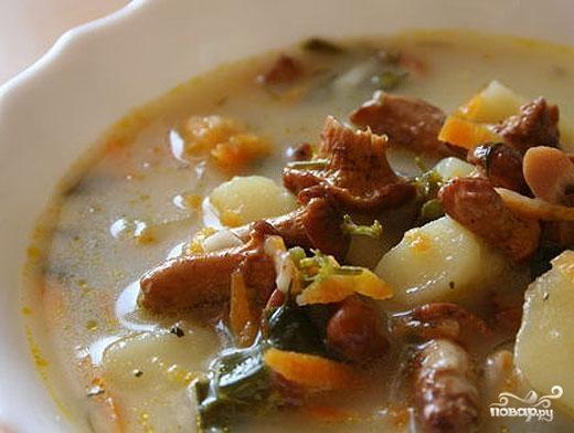 Рецепт Суп из мороженных лисичек
