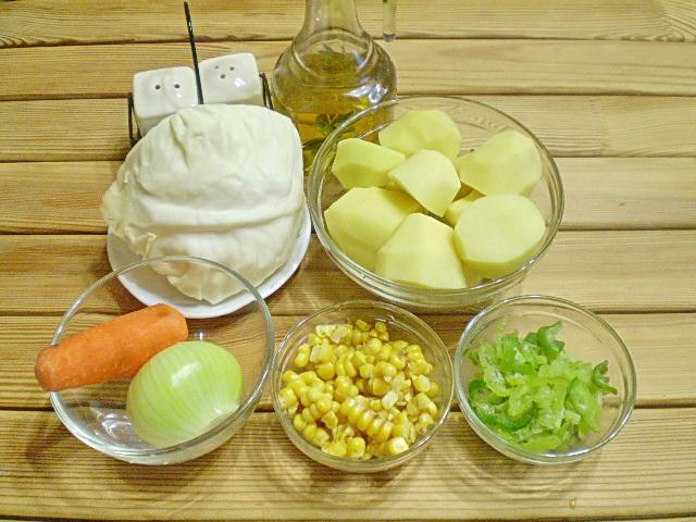 Рецепт Картофельное рагу с овощами