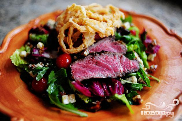 Салат со стейком - фото шаг 7