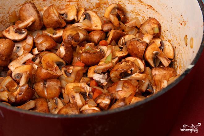 Суп с грибами и фарро - фото шаг 2