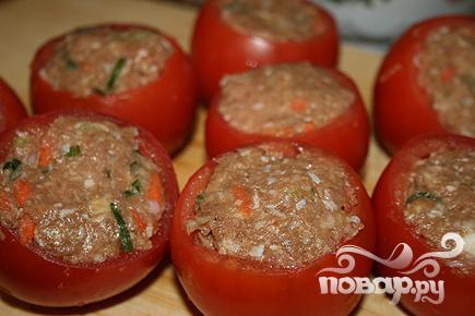 Фаршированные помидоры с индейкой - фото шаг 3