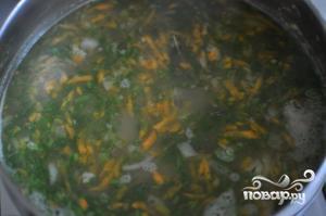Гороховый суп с копченой курицей - фото шаг 8