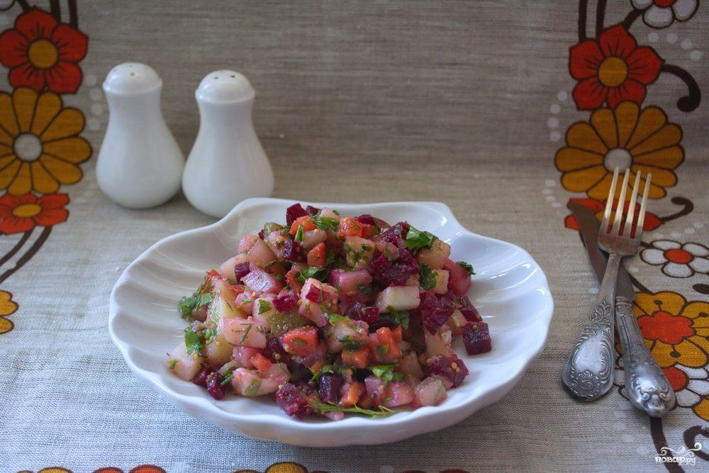 винегрет с мясом рецепт пошаговый рецепт с фото