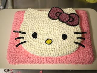 детский торт на день рождения девочке Hello Kitty приготовление.