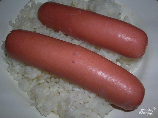 Рис с сосиской в мультиварке