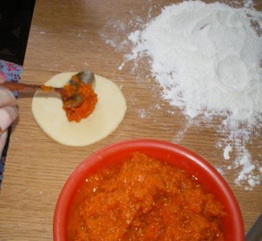 Пирожки с тыквой в духовке - фото шаг 4