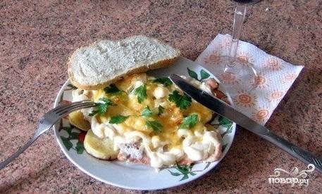 Телятина в духовке с картофелем