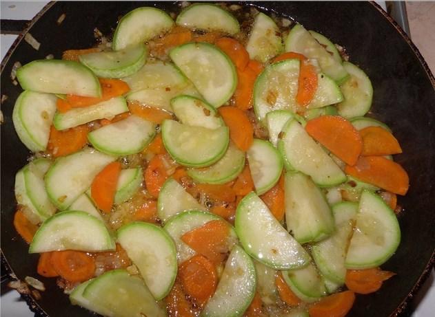 Кабачки с курицей в сковороде рецепт