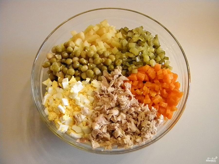 оливье рецепт классический с курицей пошаговый рецепт с фото