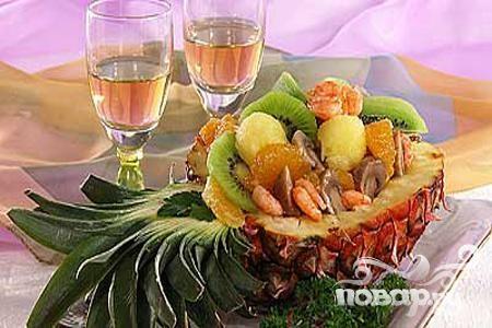 """Рецепт Фруктовый салат """"Экзотика"""""""