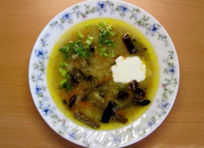 Суп с грибами и перловкой   - фото шаг 7
