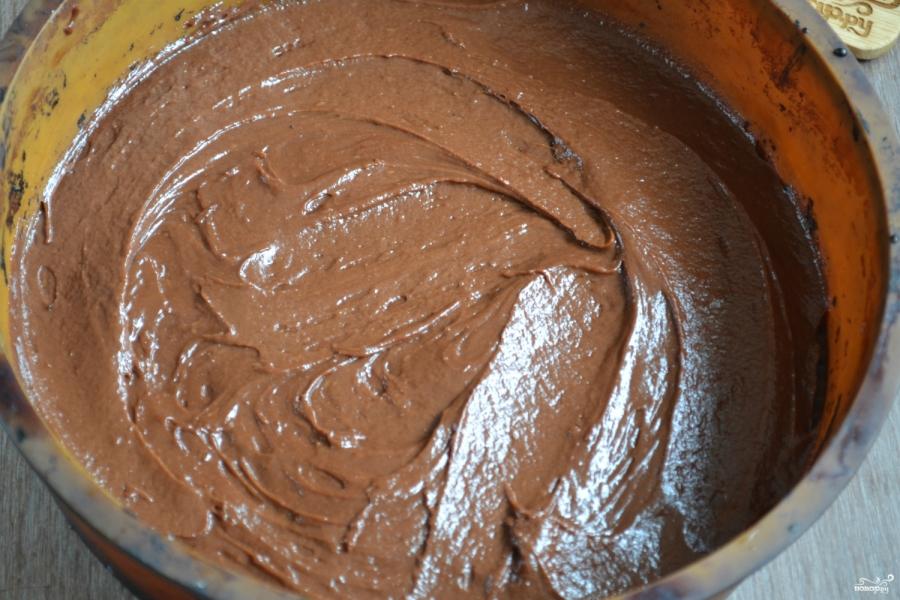 Шоколадный брауни с вишней - фото шаг 9