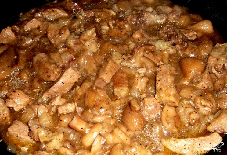 Мясо с грибами пошаговый рецепт