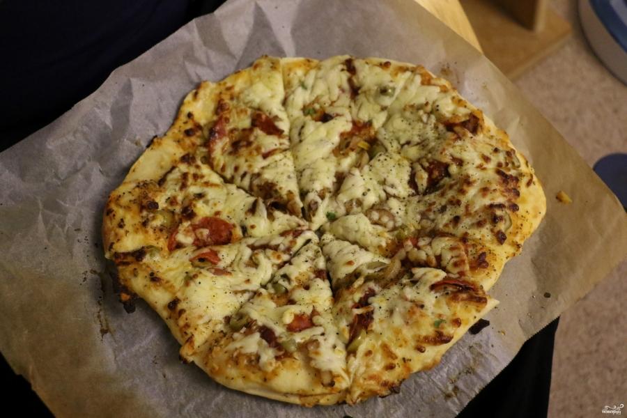 Классическая итальянская пицца - фото шаг 18