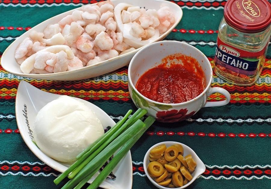 Рецепт Пицца с кальмарами
