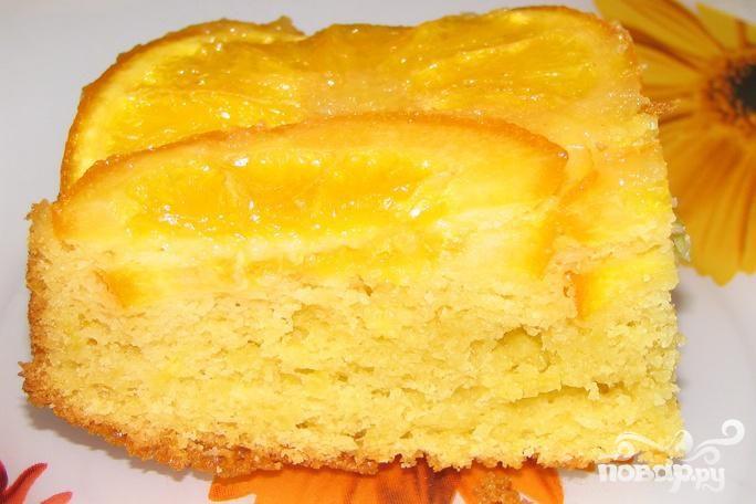 Апельсиновый пирог с орехами