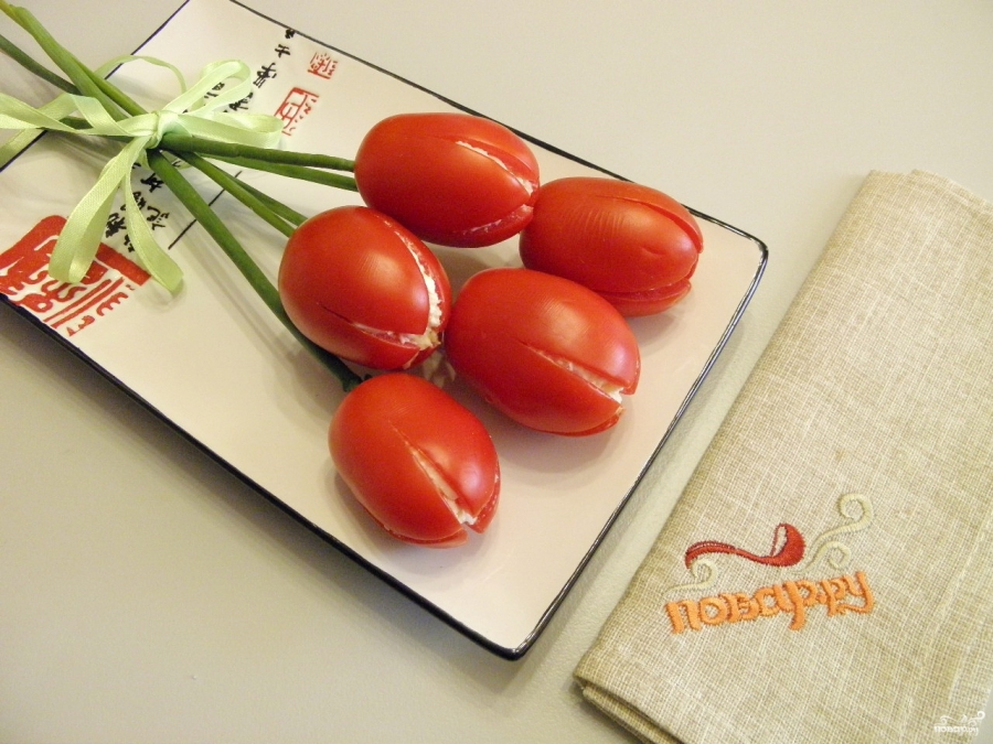 Салат Тюльпаны - фото шаг 6