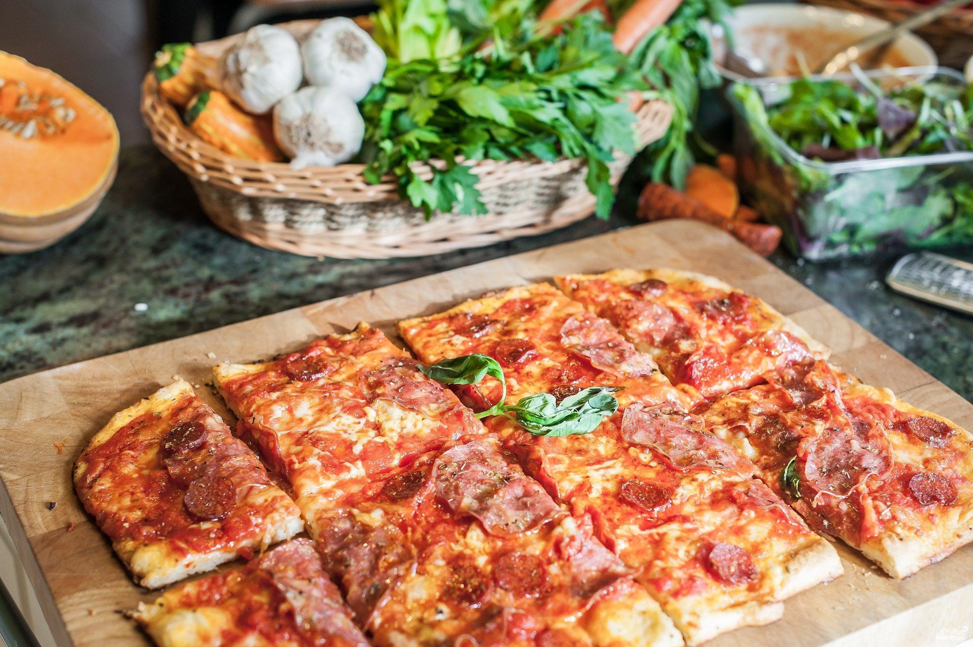 пицца дрожжевая пошаговый рецепт с фото