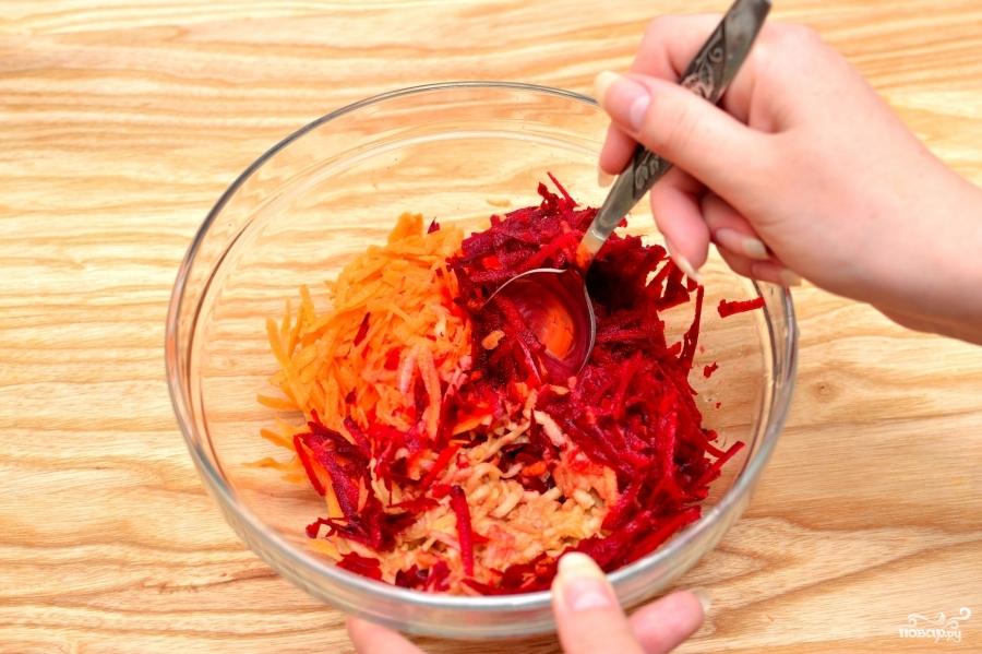 как приготовить свекольный салат с чесноком рецепт
