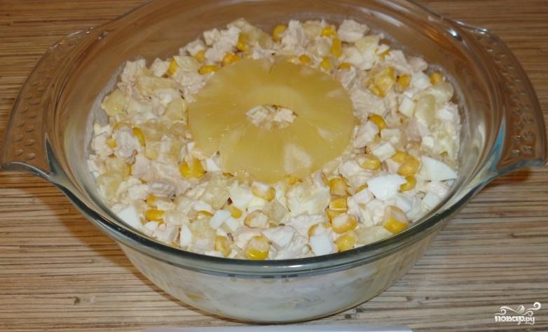 Салат из ананасов и курицы - фото шаг 5