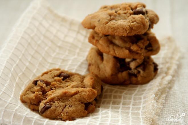 Ванильное печенье с шоколадом