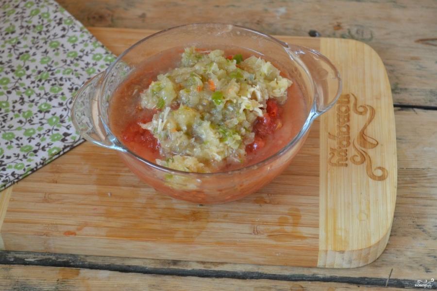 Аджика с хреном и помидорами на зиму - фото шаг 3