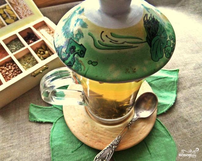Зеленый чай с медом и лимоном - фото шаг 2