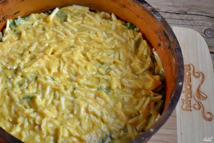 Запеканка из брокколи с сыром и яйцами - фото шаг 7