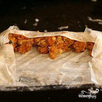 Блинчики с тыквой, беконом и козьим сыром - фото шаг 2