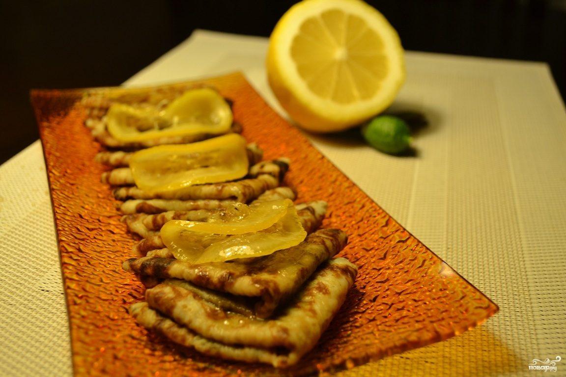 Блинчики в лимонной карамели