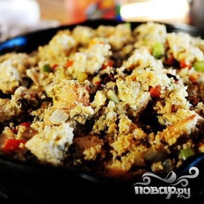 Жареный хлеб с устрицами и овощами - фото шаг 6